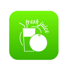 fresh juice icon green vector image