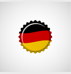 germany flag on beer cap vector image