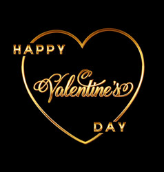 gold valentines day heart background with vector image