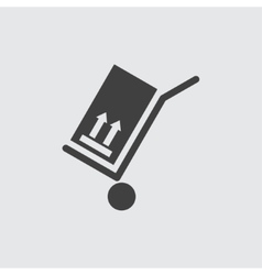 Hand cart icon vector image