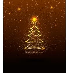 Happy New Year golden vector image