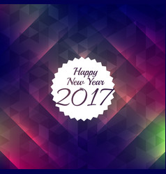 happy new year shiny style background for 2017 vector image