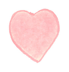 heart shape drawn with pink vector image