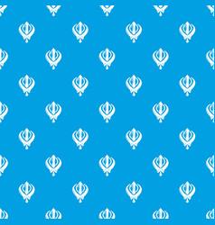 khanda symbol sikhism religion pattern vector image