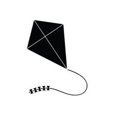 Kites theme icon in black vector