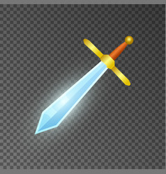 magic sword isolated game element vector image