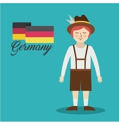 man germany culture avatar vector image