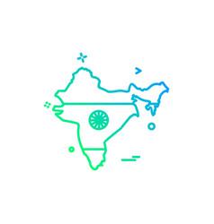 map india icon design vector image