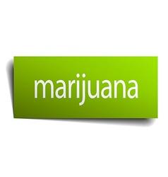 Marijuana green paper sign on white background vector