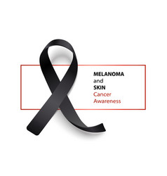 melanoma and skin cancer awareness banner with vector image