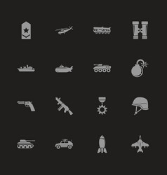 military - flat icons vector image