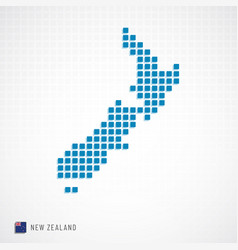 new zealand map and flag icon vector image