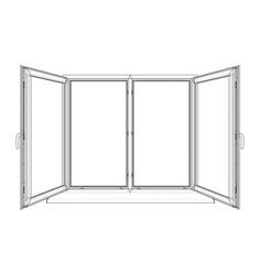 open windows sketch vector image