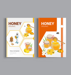 organic raw honey designe brochure abstract vector image