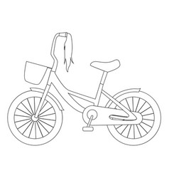 outline of children bike vector image