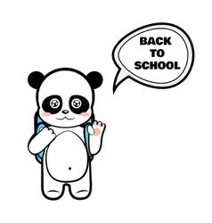 Panda schoolboy vector