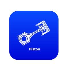 Piston icon blue vector