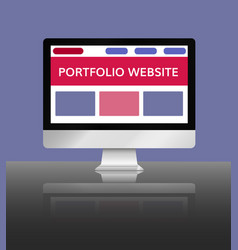 Portfolio website vector