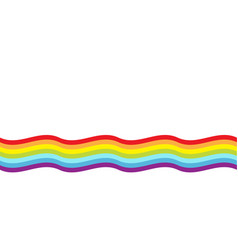 Rainbow flag wave line backdrop lgbt gay symbol vector