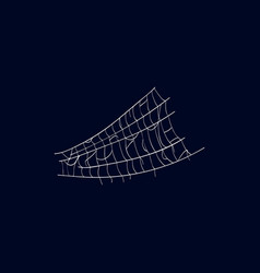 Realistic spiderweb isolated icon vector