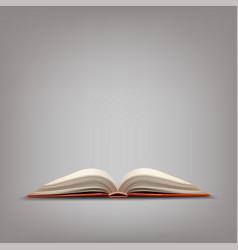 Red open book vector