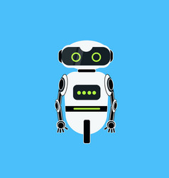 Robot cartoon robotic character realistic icon vector