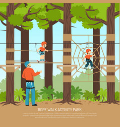 Rope walk park background vector
