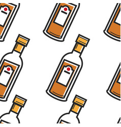rum cuban drink seamless pattern strong alcohol vector image