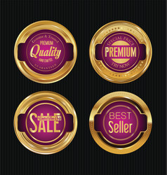 Sale luxury golden labels collection 4 vector