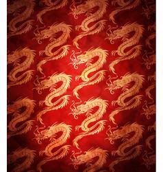 Seamless dragons pattern vector