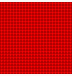 Seamless red polka dot patternn vector image