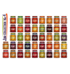 Set different jam jars vector