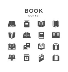 set icons of book vector image