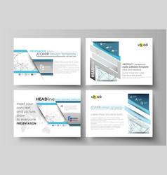set of business templates for presentation slides vector image