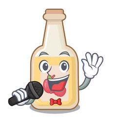 Singing apple cider in character shape vector