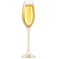 Single glass of white wine vector