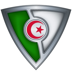 steel shield with flag algeria vector image