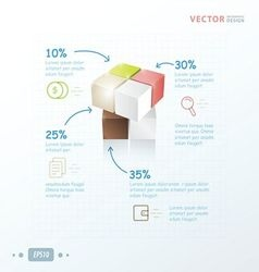 Template 3D Cube infographic vector