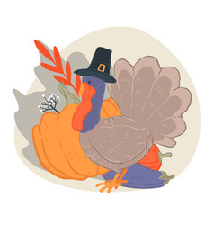 thanksgiving day autumn holiday celebration vector image