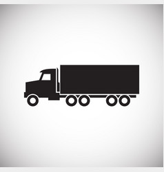 truck icon on background for graphic and web vector image