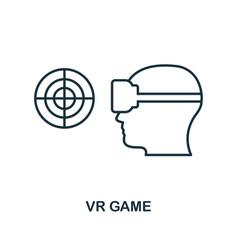 virtual reality game icon monochrome style design vector image