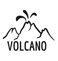 volcano eruption logo simple style vector image