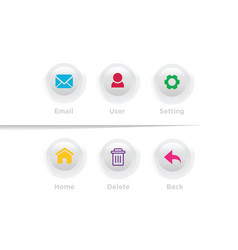 web design menu template vector image