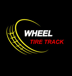 Wheel tire track color vector