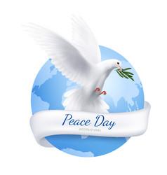 White dove emblem vector