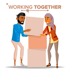 Working together concept businessman and vector