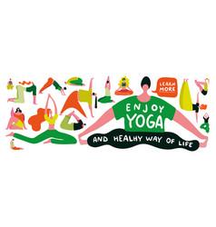 Yoga flat vector