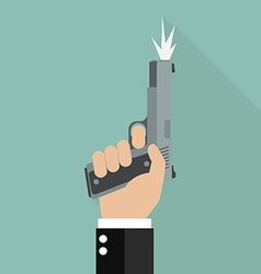 Hand firing a gun for starting race vector image vector image