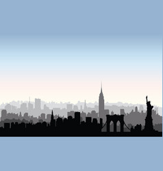 new york city buildings silhouette american urban vector image vector image