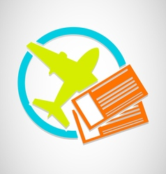 Air Tickets vector image